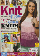 KNIT NOW MAGAZINE ISSUE 25 2013,QUICK * SIMPLE *STYLISH,27 Essential Quick KNITS
