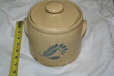 """VINTAGE MC COY 6"""" YELLOW SPECKLED COOKIE JAR POT WITH SPECKLED LID 1420 HEAVY"""