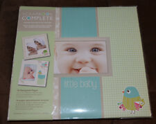 New  Tapestry 12 X 12 Scrapbook COMPLETE Album 16 Pre-Made Desner Pages Lil Baby