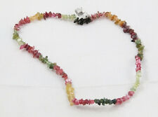 Natural multicolor TOURMALINE chip bead / strand / necklace