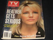 TV GUIDE HEATHER LOCKLEAR LOUISE SOREL ALISON SWEENY HUGH DOWNS GOLF JOAN LUNDEN