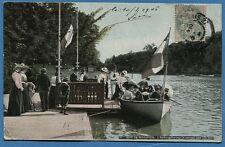 CPA: Paris - Bois de Boulogne - L'Embarcadère pour le passage dans... / 1906