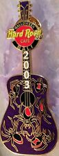 Hard Rock Cafe BALI 2003 HALLOWEEN PIN Black Widow Spiders Guitar - HRC #20147