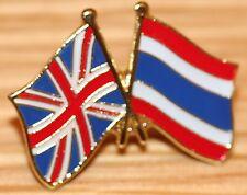 UK & THAILAND Thai FRIENDSHIP Flag Metal Lapel Pin Badge Great Britain