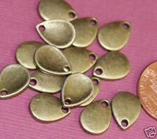 50 pcs of Antique brass teardrop 8x11mm
