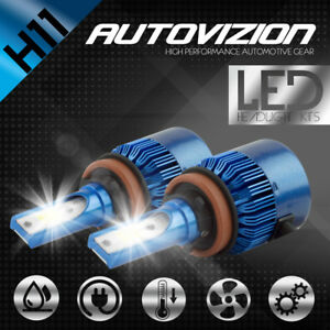 AUTOVIZION LED Headlight kit H11 White for 2007-2016 Chevrolet Silverado 2500 HD