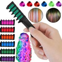 6 pcs/set Temporary Hair Chalk Hair Color Comb Dye Salon Kits Party Cosplay Set