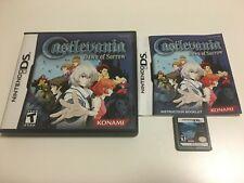 Castlevania Dawn of Sorrow Nintendo DS COMPLETE EXCELLENT CONDITION