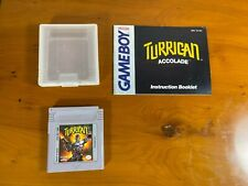 Turrican accolade gameboy game with instruction manual and cartridge case