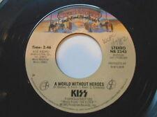 "KISS 45 "" A World Without Heroes / Dark Light "" USA Casablanca 1981'"