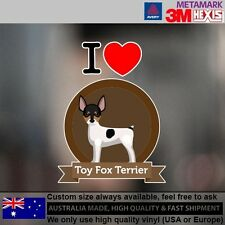 Toy Fox Terrier Sticker Style Custom cute Gift 9.6 cm x 12.6 cm