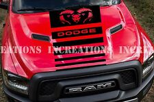 Hemi Dodge Ram Head Hood Decal Sticker Racing Any Truck Fading Stripe Toyota GMC