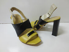COSTUME NATIONAL Yellow Black White Sandals Shoes 36, NEW $580