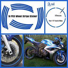 "Rim Stickers Blue  Tape 17"" Motorcycle Honda Suzuki Yamaha Kawasaki"