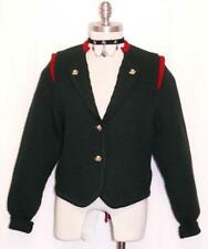 "GREEN WOOL Dirndl SWEATER Coat Austria Women ELEGANT Winter WARM Jacket B37"" 6 S"