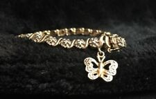 """Sterling Silver 7.5""""  Bracelet With Butterfly Charm"""