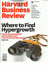 HARVARD BUSINESS REVIEW MAGAZINE,  WHERE TO FIND HYPERGROWTH   DECEMBER, 2016