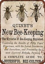 """7"""" x 10"""" Metal Sign - 1879 Quinby's Bee-Keeping - Vintage Look Reproduction"""