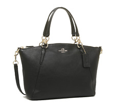 NWT Coach Pebble Leather Sm Kelsey Satchel Handbag Crossbody bags Black F36675