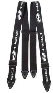 Stretch Hosenträger für Held Motorrad Textilhosen und alle GTX-Hosen schwarz M