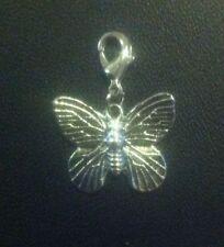 Butterfly Tibetan Silver Costume Charms & Charm Bracelets