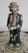 "Vintage Emmett Kelly Jr. Porcelain Clown Miniature Figurine ""Hands Folded"""