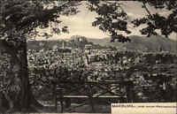 MARBURG a.d. Lahn Hessen ~1910 alte Postkarte Partie a.d. Weinrautseiche Baum