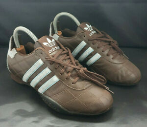 Vintage Adidas Tuscany Goodyear Trainers Rare Colour: Brown/Blue Size UK 5 EU 38