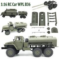Oil Tank Tanker Spare Tire Accessory For 1/16 WPL B24 B16 B36 Military Truck RC