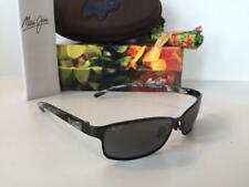New Maui Jim SHORELINE Polarized Sunglasses 114-02 Black/Grey Very Rare!