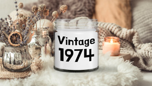 1974 Birthday Vintage Candle 47th Birthday Classic Birth Year Celebration Gift