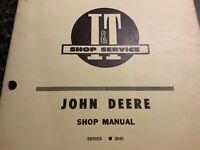 JOHN DEERE SERIES 2040 SHOP MANUAL
