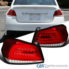Tail Lights For Subaru 15-19 WRX/WRX STI Sequential LED Bar Red Brake Lamps Pair