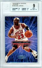 Michael Jordan 1998-99 Metal Universe Linchpins Bgs 9 Mint without the pins Rare