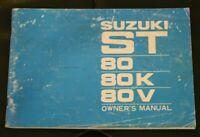 Retro Suzuki ST 80,80K,80V. owners manual