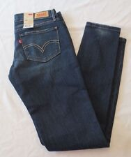 NWT LEVIS 524 SKINNY ULTRA LOW RISE SKINNY LEG JEANS JUNIORS SIZE 1M Indigo