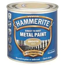 Hammerite Smooth Gold Metal Paint 250ml