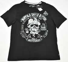 Buffalo David Bitton T-Shirt Men's Size M NAELL Skull Graphic Tee Black N909