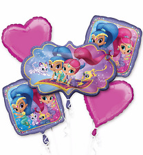 Shimmer and Shine Genies Balloon Bouquet Birthday Party Supplies Decoration ~5pc