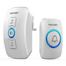 TeckNet 32 Chimes Wireless Doorbells Wall Plug-in Waterproof Door Chime Kit 250M