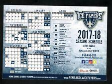 Pensacola Ice Flyers--2017-18 Magnet Schedule--SPHL