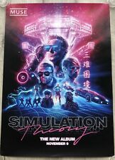 MUSE - PROMO POSTER - SIMULATION THEORY (clear vinyl 2 lp cd tour super deluxe)