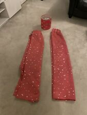 Pink With Silver Stars Bedroom Curtains