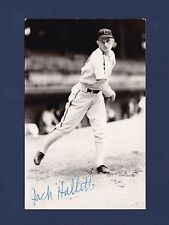 Jack Hallett signed Chicago White Sox baseball postcard 1914-1982