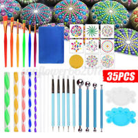 35PCS Mandala Dotting Tools Set Kit Painting Rocks Stone Art Pen Polka Do