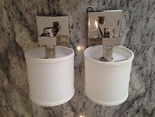Sconce Wall Chrome Bedroom New Without Box  Lot Of 2