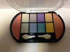 8 Colour Eye Shadow Palette White,Blue,Purple,Gold shades set