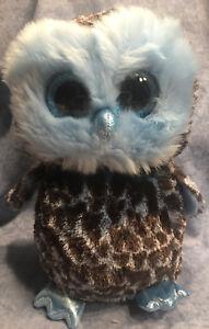 W-F-L TY Buddy Yago Owl Owl Boos Glubschi 8 11/16in Glitter Eyes