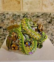 KIRKS FOLLY  DRAGON IN THE MIST  CUFF BRACELET  RARE BRASS TONED  NWT SMALL