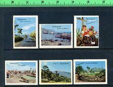 6 TENERIFE SANTA CRUZ PROPAGANDA Poster Stamp Set CAMARA OFICIAL DE COMERCIO